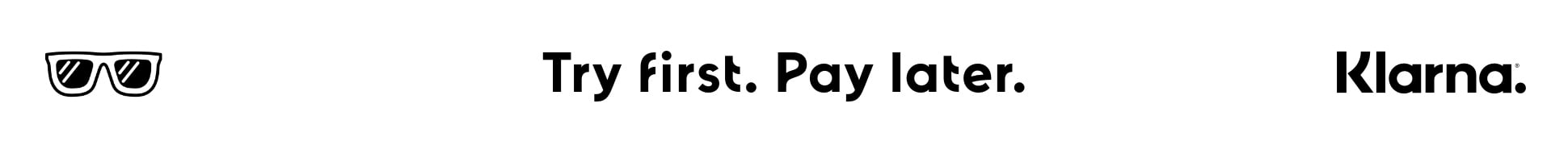 klarna - try first pay later