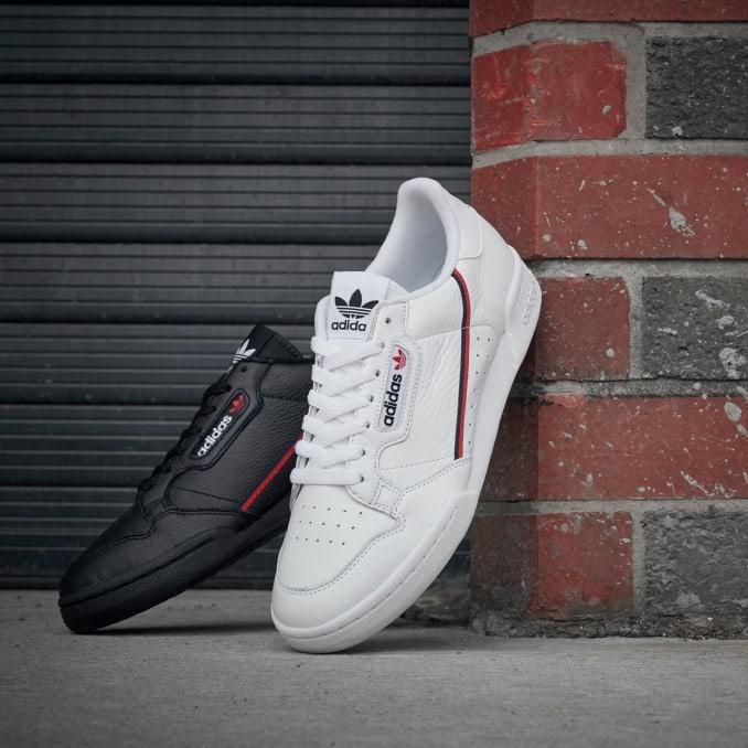 Zapatillas adidas Continental 80 para hombre en blanco y en negro
