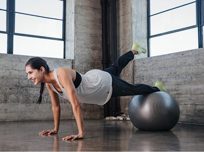 Workout con fitball