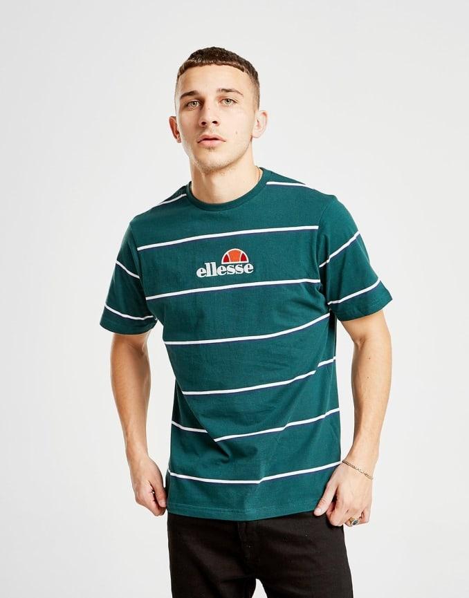 Camiseta verde a rayas de Ellesse para hombre