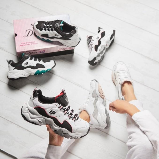 Varios modelos de zapatillas Skechers D'Lites 3