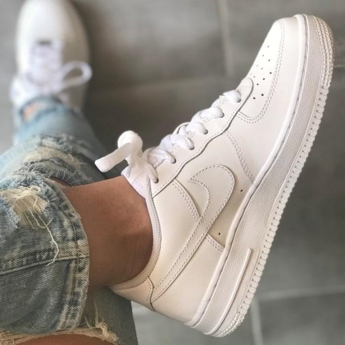 Zapatillas Nike Air Force 1 blancas de mujer