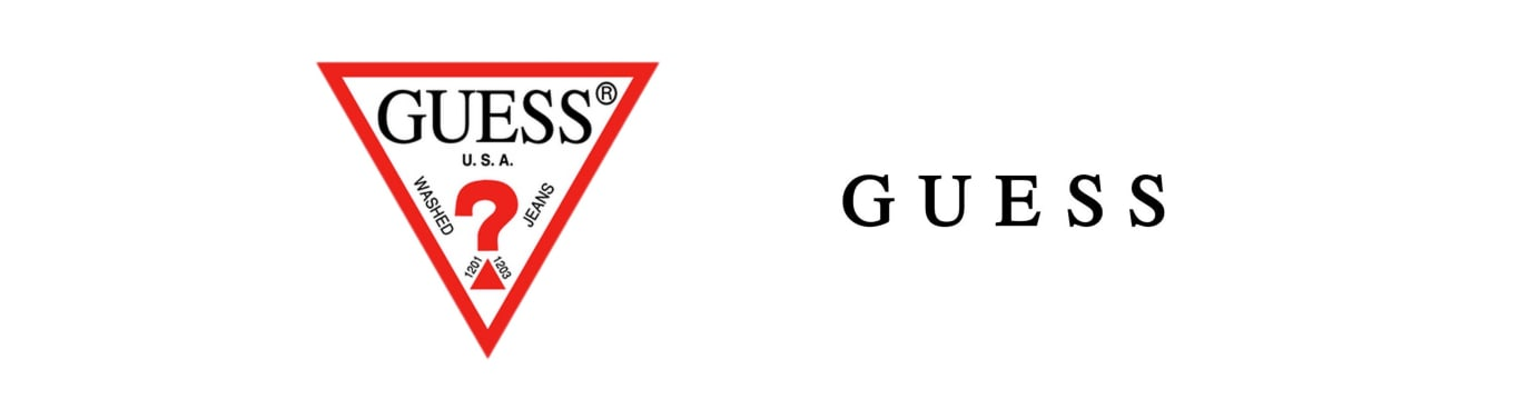 logo y sello marca guess