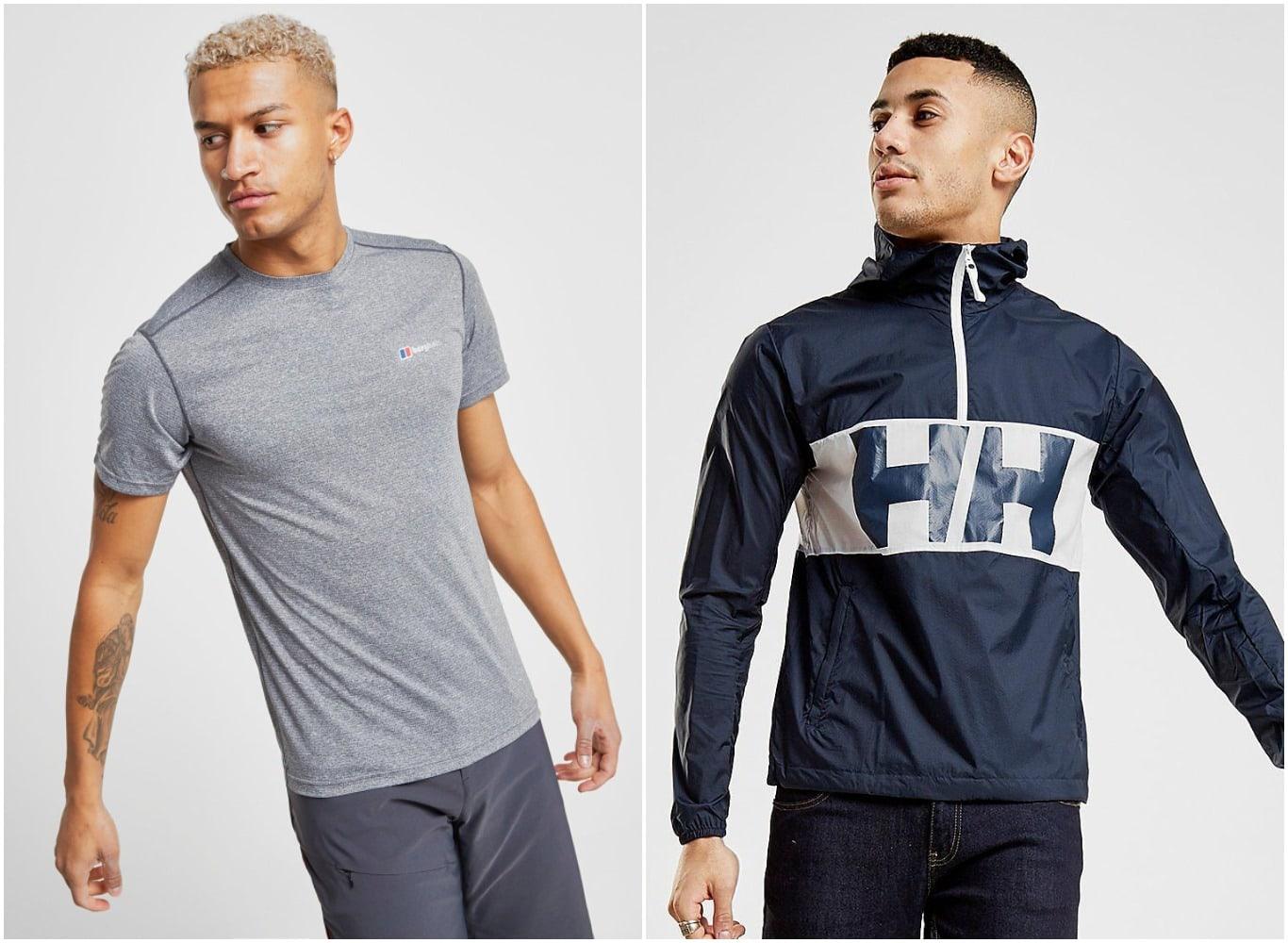 Camiseta de Berghaus y chaqueta de Helly Hansen para hombre
