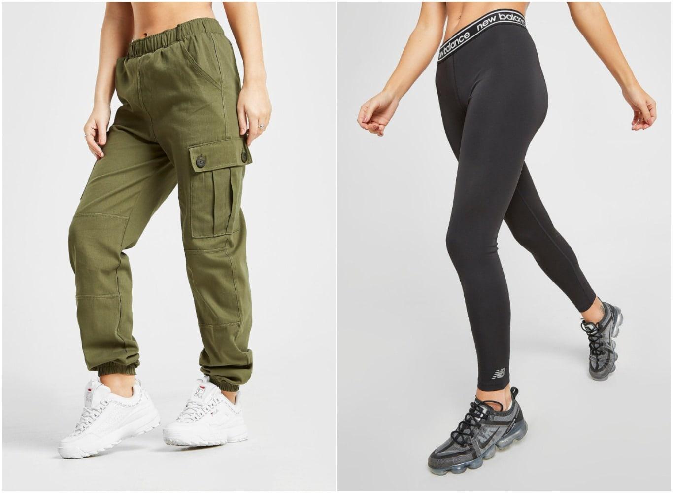 Pantalón cargo de Supply & Demand y mallas de New Balance para mujer