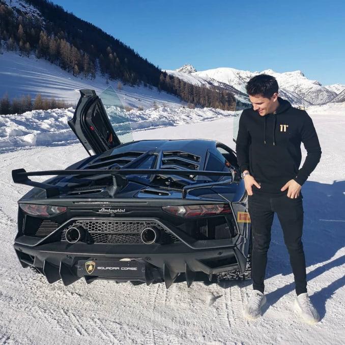 Archie Hamilton en la nieve