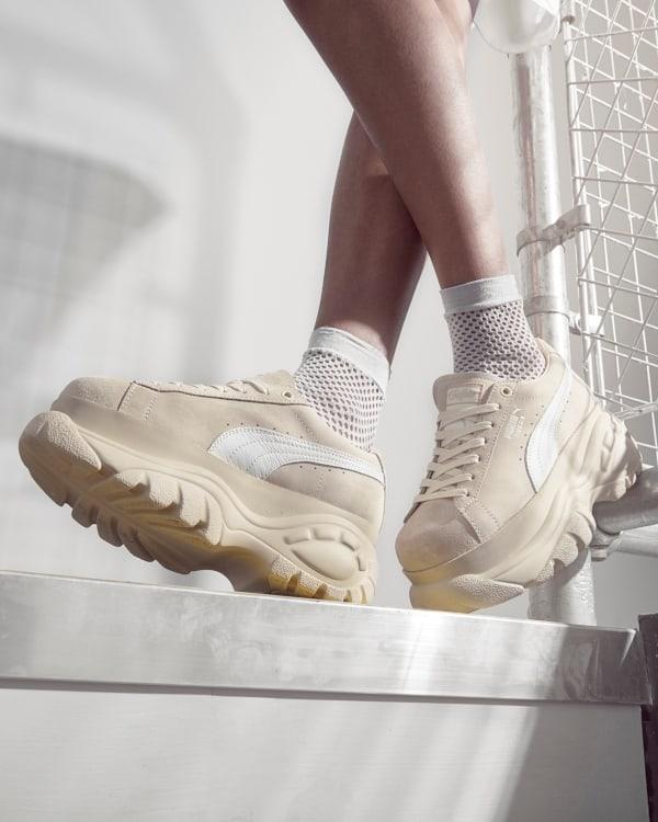 Buffalo London zapatillas beige mujer