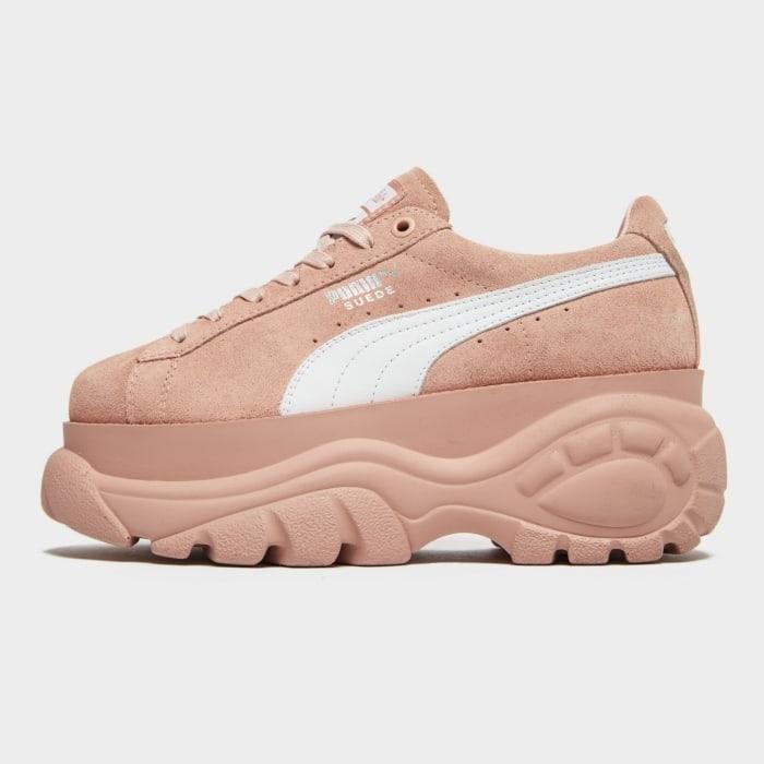 Buffalo suede zapatillas rosa upper pim mujer