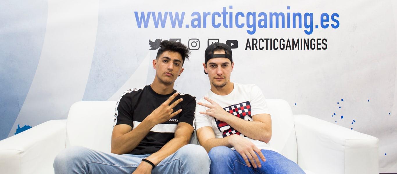 Hander y Tirpa en el stand de JD Sports x Arctic Gaming
