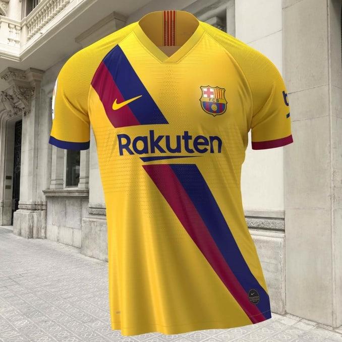 Segunda equipación 2019 del FC Barcelona