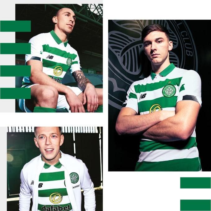 Jugadores del Celtic FC con la nueva equipación 2019