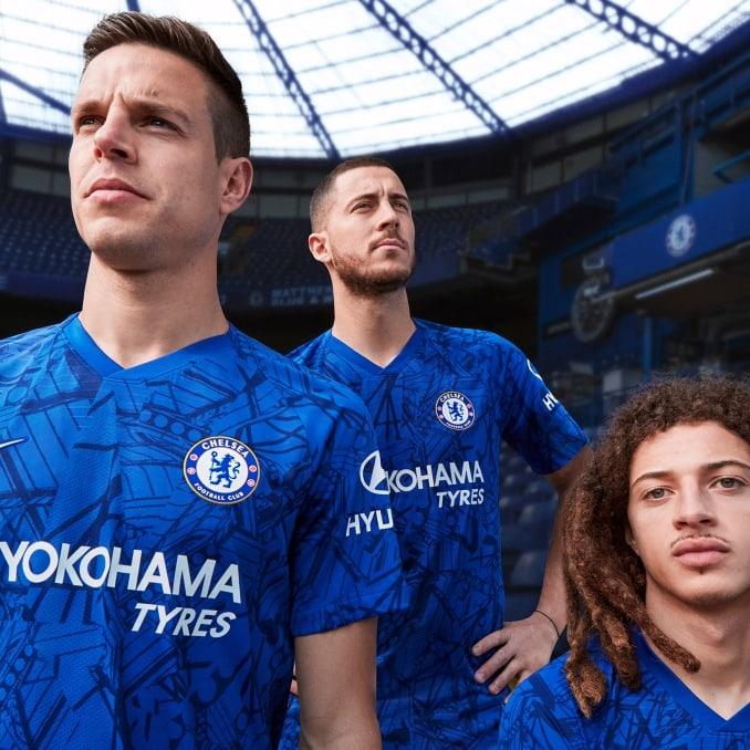 Jugadores del Chelsea FC con la primera equipación 2019-20