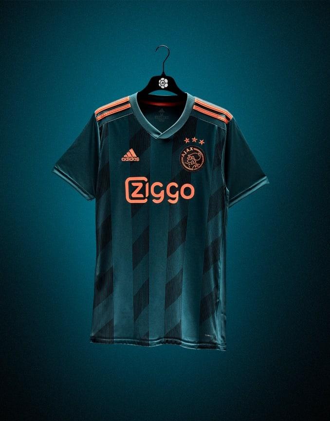 Prototipo de la camiseta del Ajax para la segunda equipación
