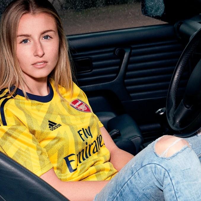 Camiseta amarilla para mujer del Arsenal FC