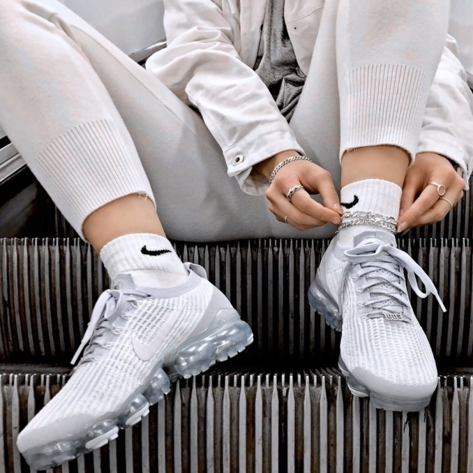 Nike Vapormax Flyknit blancas