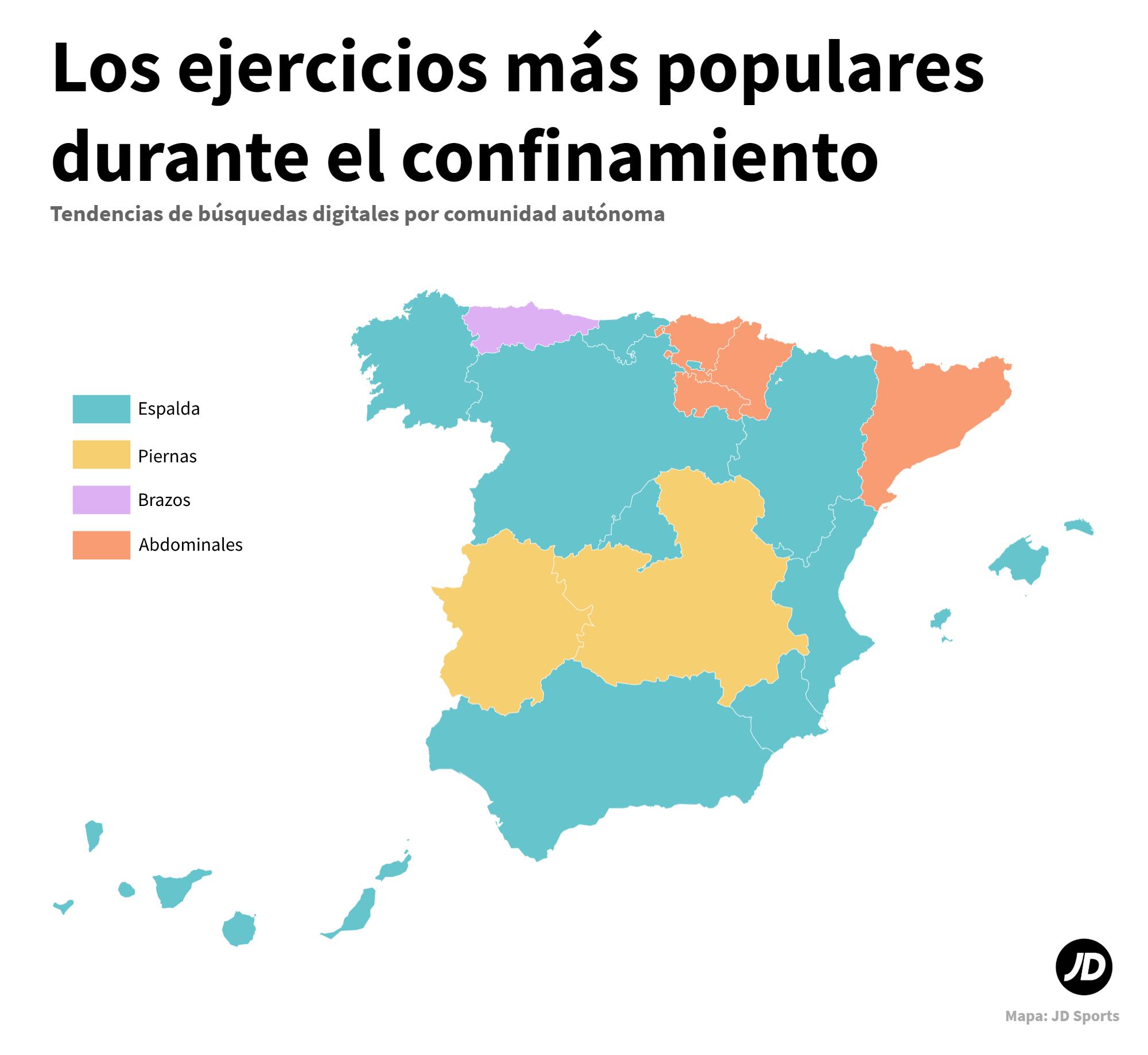 Las Regiones De España Más Deportistas Durante El Confinamiento Jd Blog