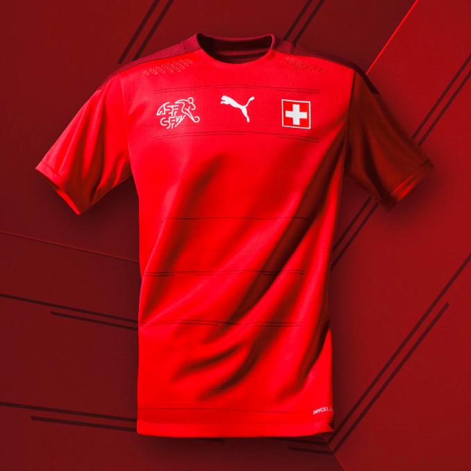 Camiseta de la selección de Suiza para la Eurocopa 2020