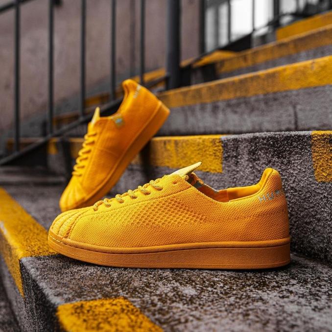 Adidas Superstar Primeknit de Pharrell Williams amarelas