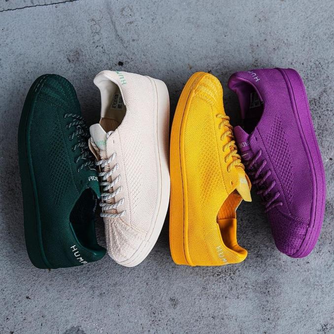 coleção de sapatilhas adidas Superstar PK x Pharrell Williams