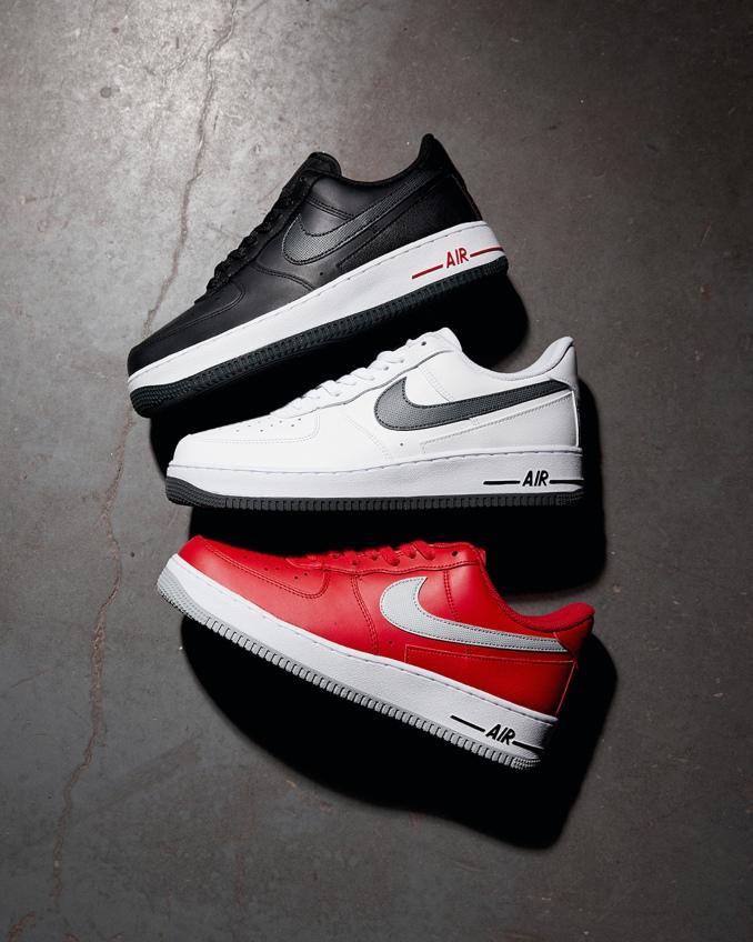 Varias cores das Nike Air Force 1