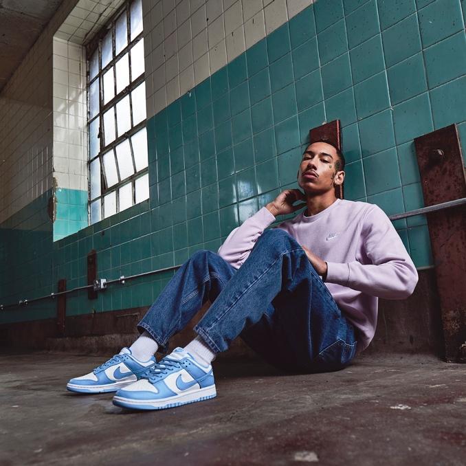 Nike Dunk Low azules y blancas de hombre