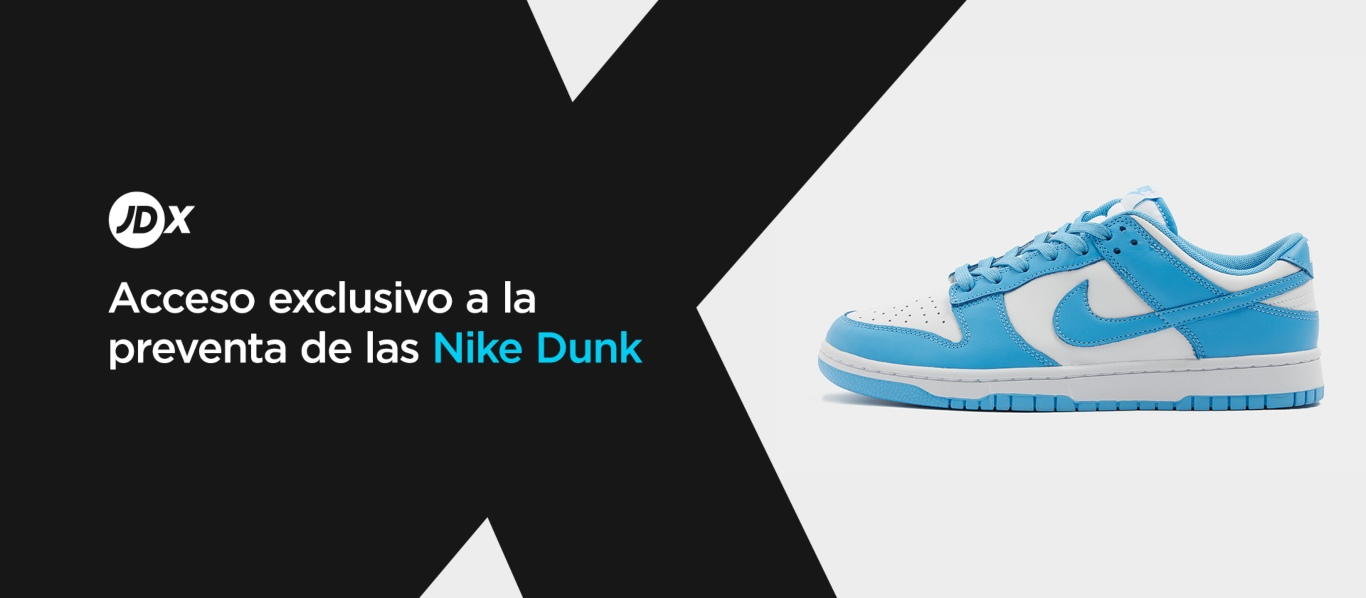 Raffle Nike Dunk Low University Blue en JD Sports