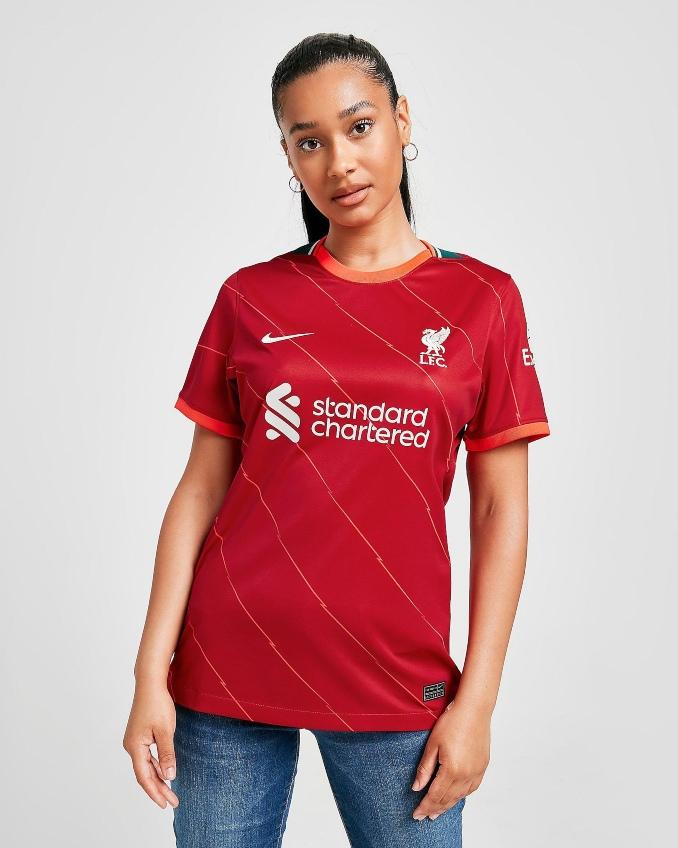 Mujer con camiseta Liverpool 21-22