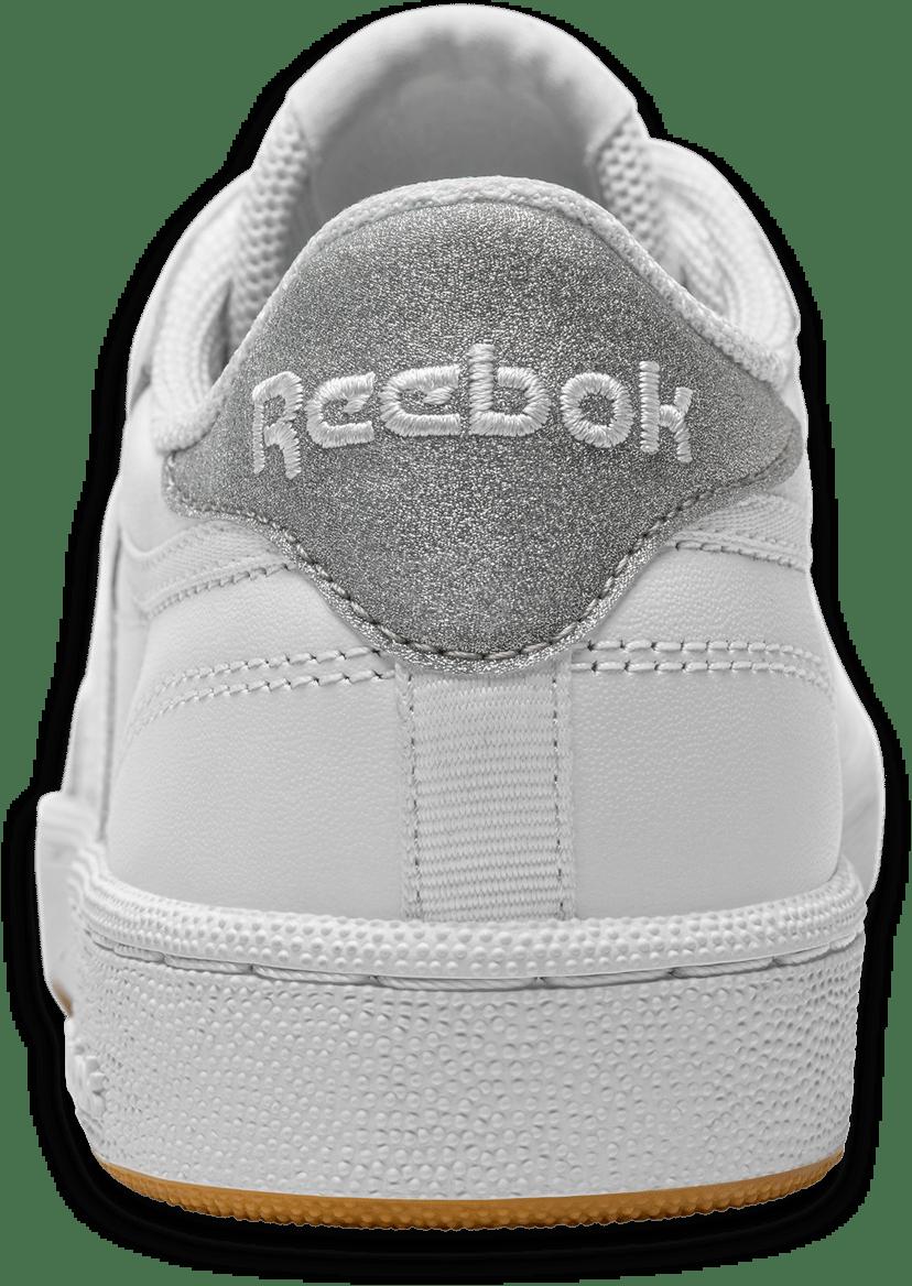Back view of Reebok Classics diamond style
