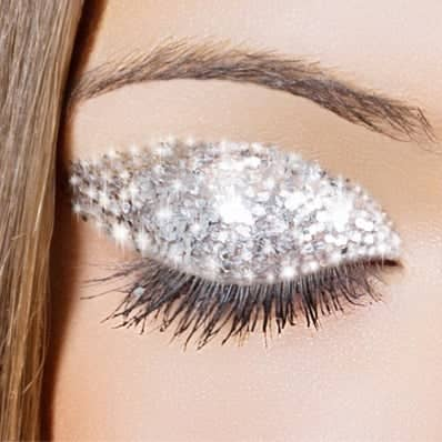 Focus of eye with make-up applied